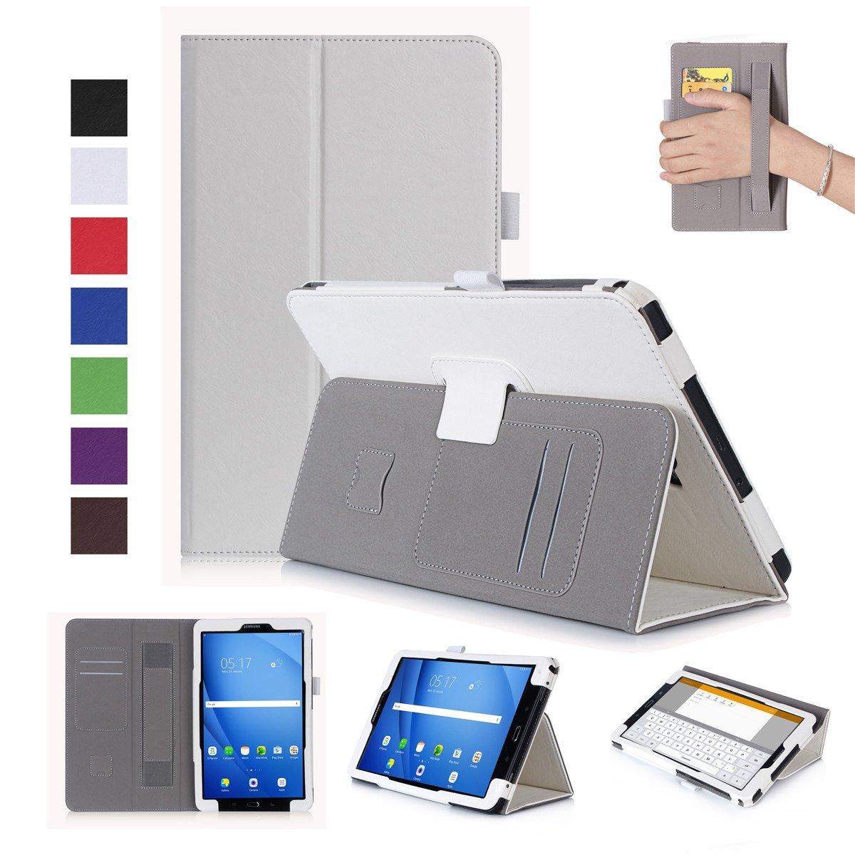 素晴らしい外見 Scheam Samsung VG38-IP-629 Galaxy に対応 Tab A - 10.1 T580 ケース [ポータブル財布] [スリムフィット] 高耐久保護アクセサリー フリップカバー ウォレットケース Samsung Galaxy Tab A 10.1 T580 に対応 - ホワイト, ホワイト, VG38-IP-629 ホワイト B07KSSNY9V, 玉野市:32c87b26 --- a0267596.xsph.ru
