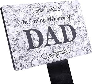 OriginDesigned in Loving Memory of DAD Memorial - Granite Stone Effect Plaque Stake, Grave Marker, Garden, Outdoor, Decorative Tribute