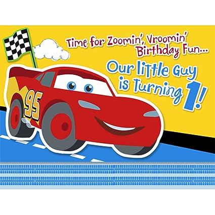 Amazon Com 1st Disney Cars Invitation 8 Pkg Toys Games