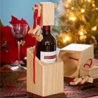 Bits and Piece - Bewildering Wine Bottle Brainteaser - Wooden Wine Bottle Puzzle - Great Gift for the Wine Lover