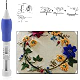 CGT Craft Embroidery Punch Needle Sewing Stitching Punching Tool Set for Craft and Embroidery Designer