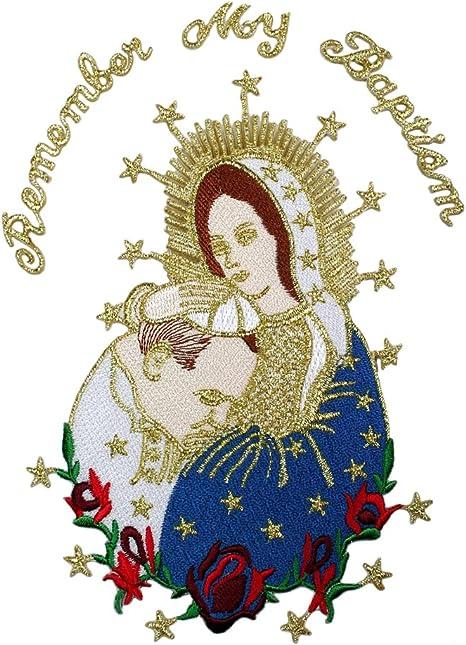 Bordado Virgen Mary & Papa Applique Patch metálico oro Santa Maria y diseño de Papa: Amazon.es: Juguetes y juegos