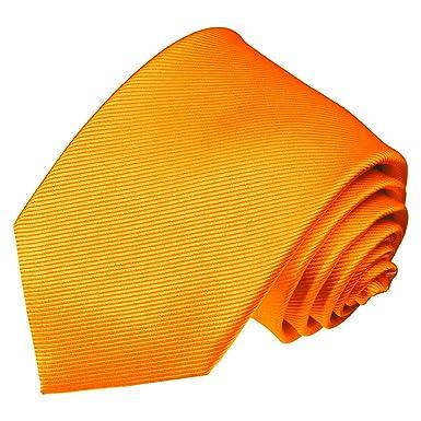 LORENZO CANA - Marcas corbata de seda 100% - Tiras finas naranja ...