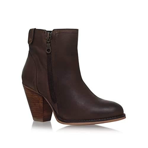 9ee79b0a8 Silver Street London Women s LSS110C Leather Western Heel Ankle Boots   Amazon.co.uk  Shoes   Bags