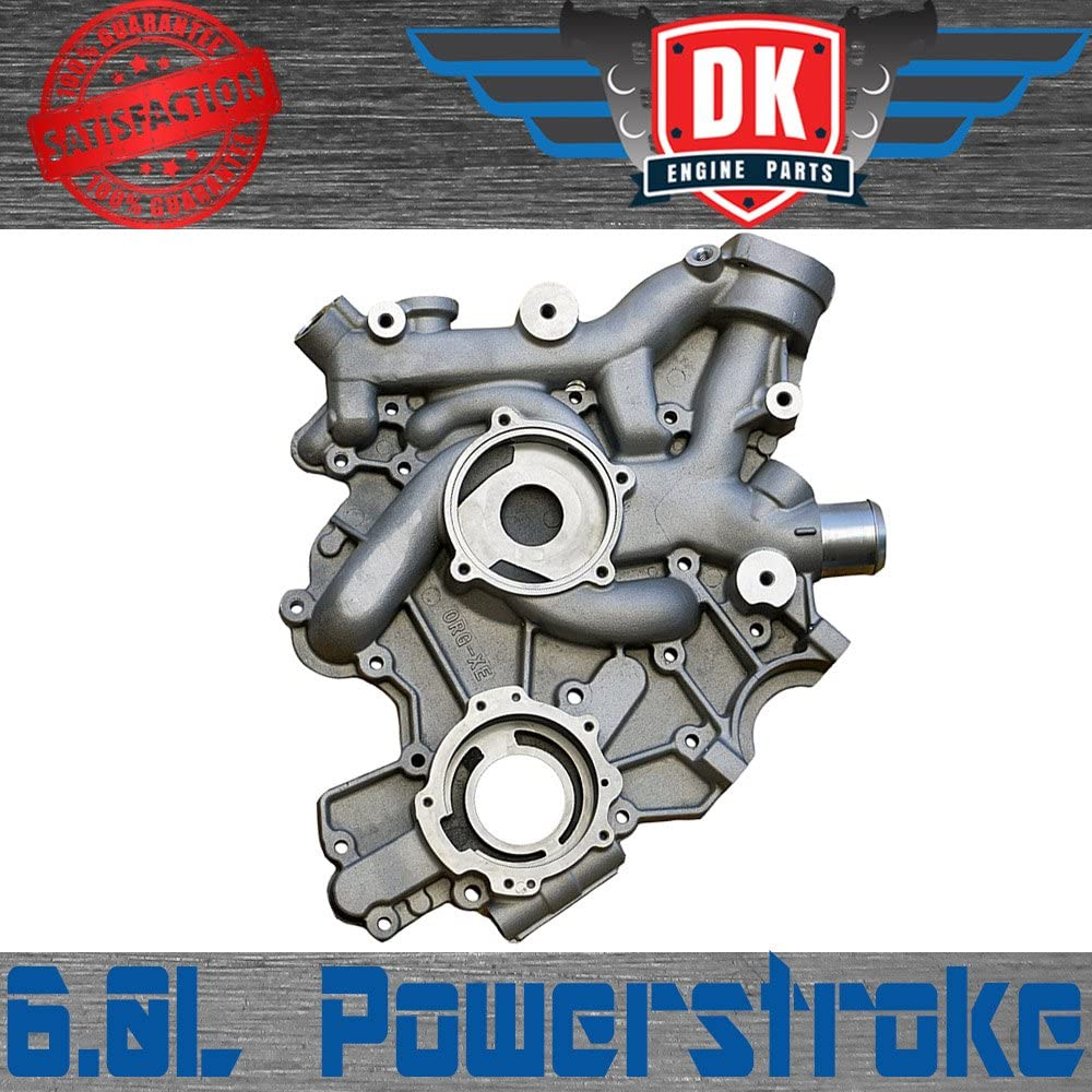 OAW F2450 Engine Water Pump for 04-10 Ford 6.0L Powerstroke Diesel w// 100mm Composite Impeller Manufactured Oct 03 /& up