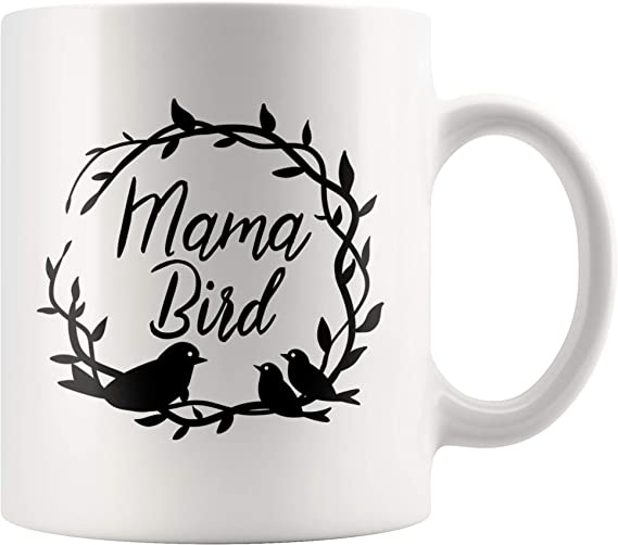 Mama Bird Gift Mug Animal Cute Nature Mother Watching Bird Lover