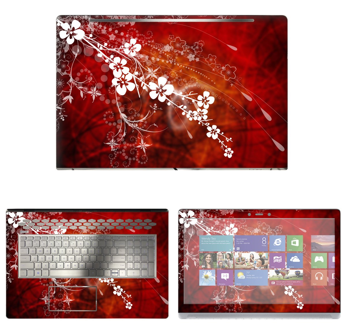 Decalrus - Protective Decal Floral Skin Sticker for HP ENVY 17M AE011DX (17.3'' Screen) case cover wrap HPenvy17_ae011dx-100