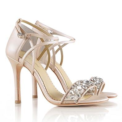 aaf7079ef0af Bella Belle Heel Nude Jewel Wedding Party Bridesmaid FLP 10.5