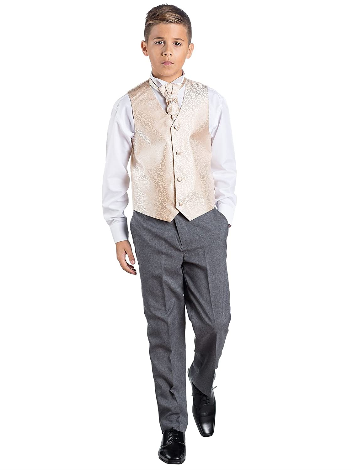 Boys Formal Suit Paisley of London Page Boy Outfit Grey Trousers Waistcoat Suit Wedding Suit