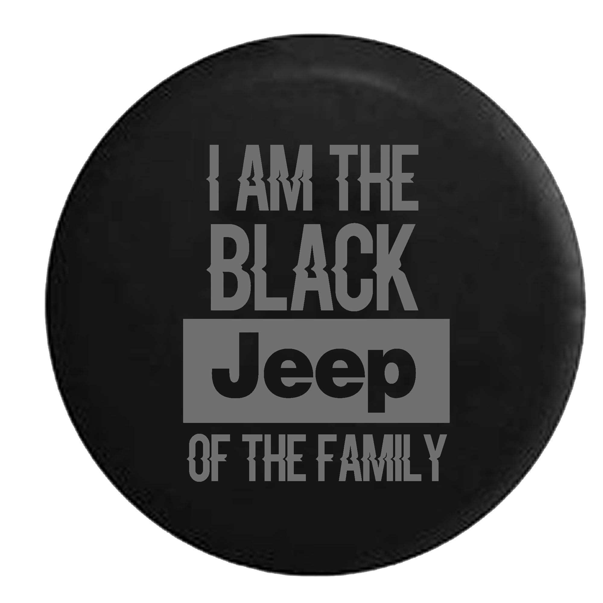 Stealth - Black Jeep of the Family Spare Tire Cover Vinyl Black 31 in
