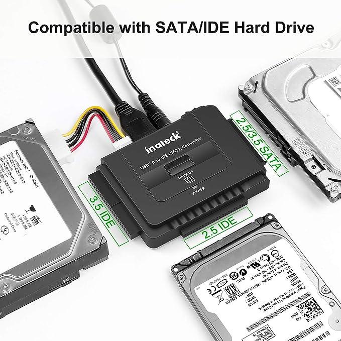 Inateck IDE/SATA a USB 3.0 Adaptador Docking Station Convertidor Para 2.5