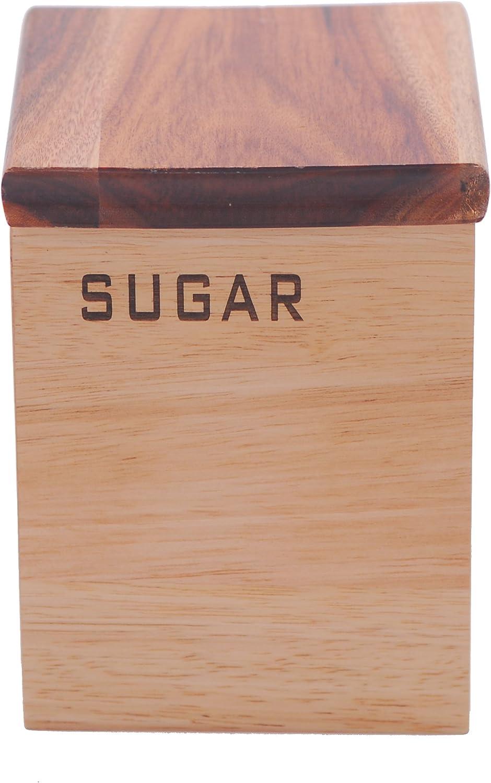 Epicurean - Caja de Madera para el azúcar (Acacia y Caucho): Amazon.es: Hogar