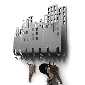 M-KeyCases Colgador Llaves de Pared Elements (9 Ganchos) Guardallaves Cuelga Decorativo Ganchos de Metal para Cocina, Puerta de Casa | Portallaves ...