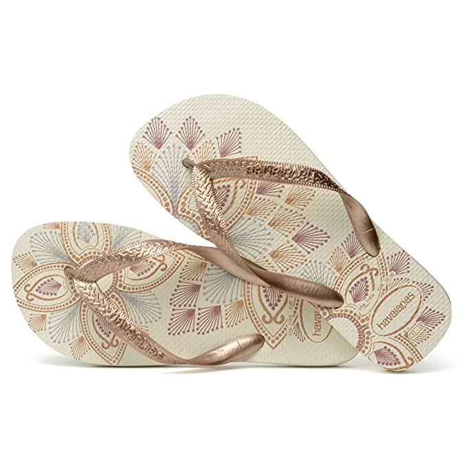15cf40d470494 Havaianas Womens Spring Lightweight Holiday Toe Post Beach Flip Flops -  White Rose - 6 7  Amazon.co.uk  Shoes   Bags