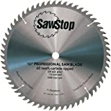 SawStop CB104-184 60-Tooth Combination Table Saw Blade, 10-Inch with 5/8-Inch Arbor