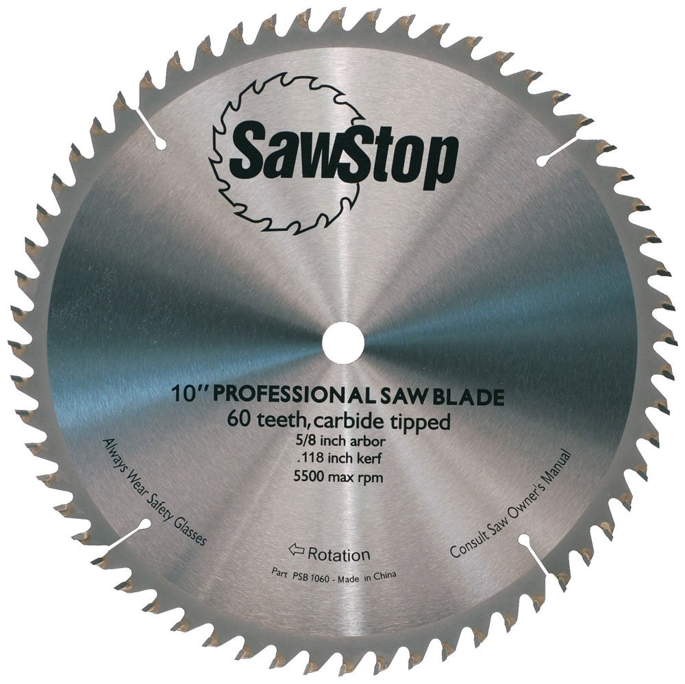 Sawstop cb104 184 60 tooth combination table saw blade 10 inch with sawstop cb104 184 60 tooth combination table saw blade 10 inch with 58 inch arbor miter saw blades amazon greentooth Image collections