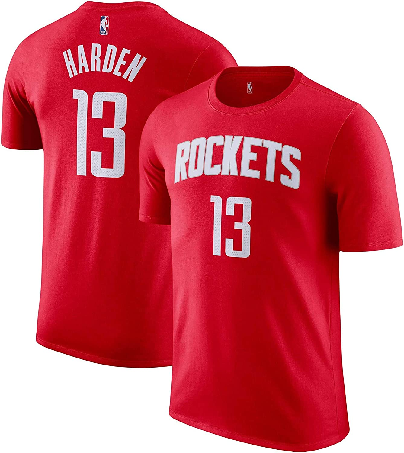 OuterStuff James Harden Houston Rockets NBA Boys Youth 8-20 Red Name /& Number Player T-Shirt