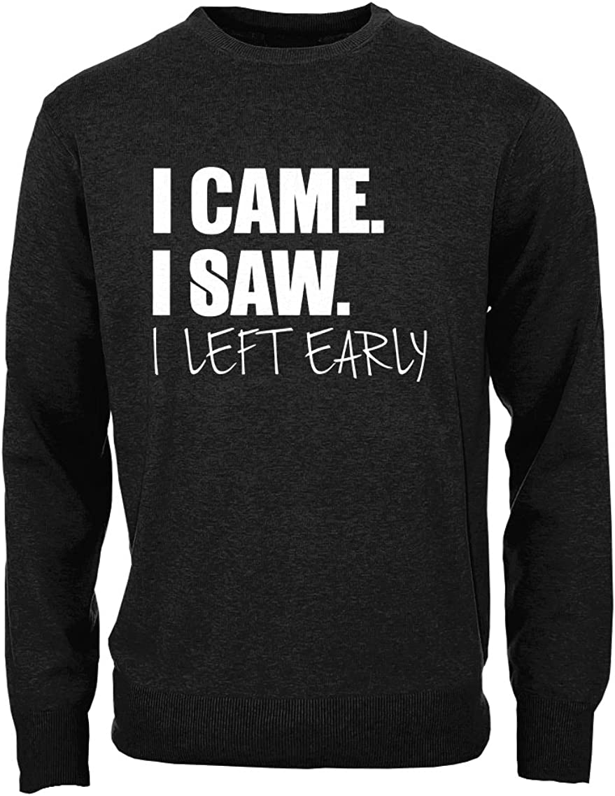 RiotBunny I Came I Saw I Left Early Awkward Antisocial Introvert Hombres Camisa de Entrenamiento Pullover: Amazon.es: Ropa y accesorios