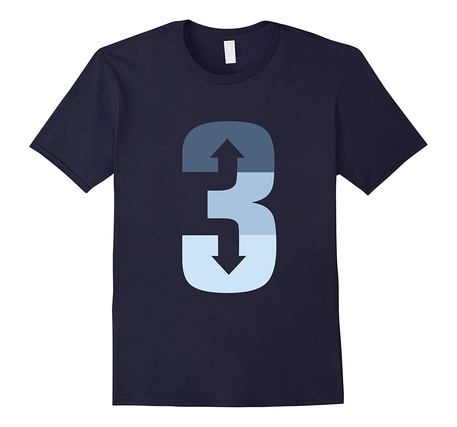 3 up 3 down T shirt  Baseball T-shirt-CD