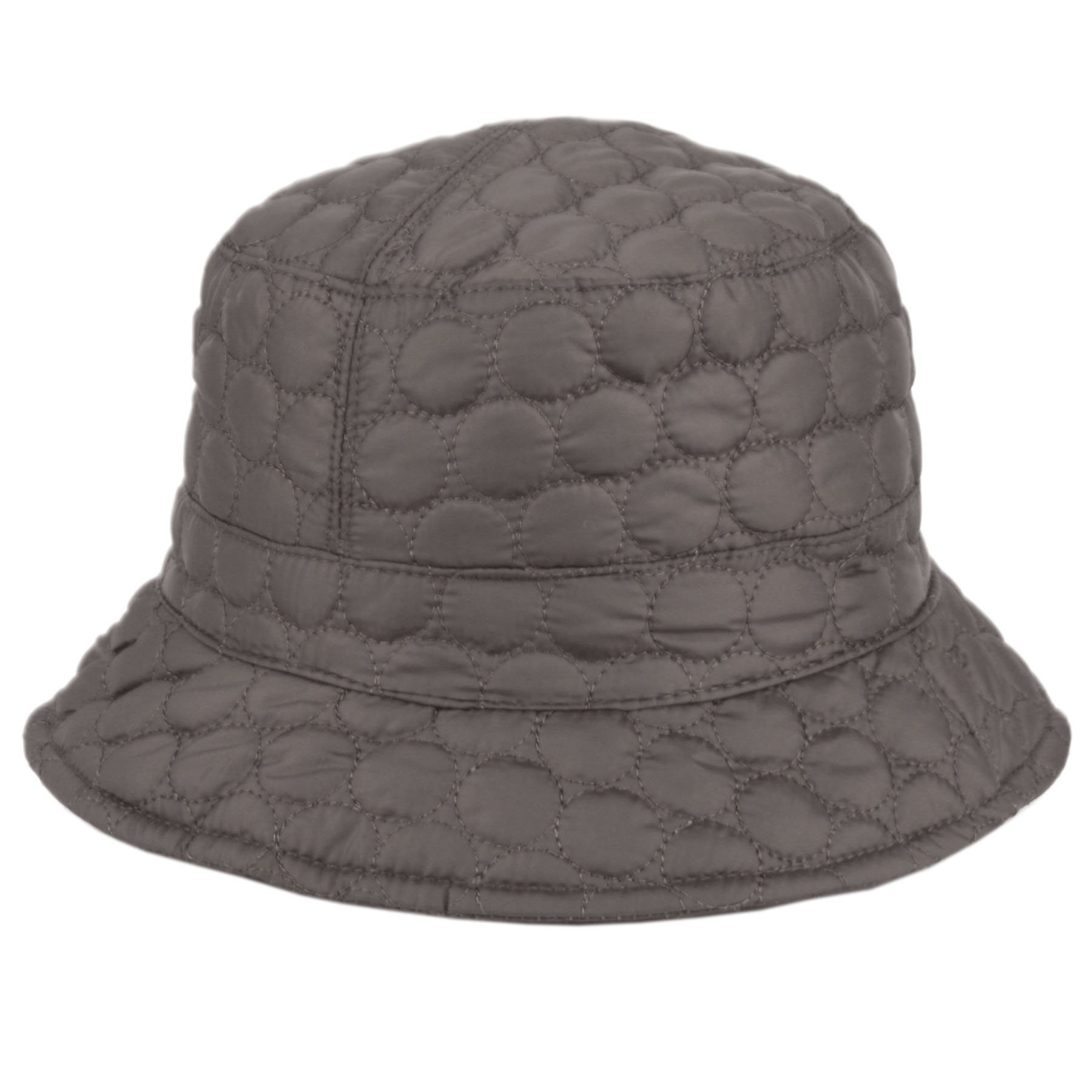 CL2396 Foldable Water Repellent Quilted Rain Hat w/ Adjustable Drawstring, Bucket Hat (GRAY)