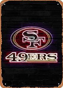 Fanzi Vintage Look Metal Sign - 49ers neon Sign - 8