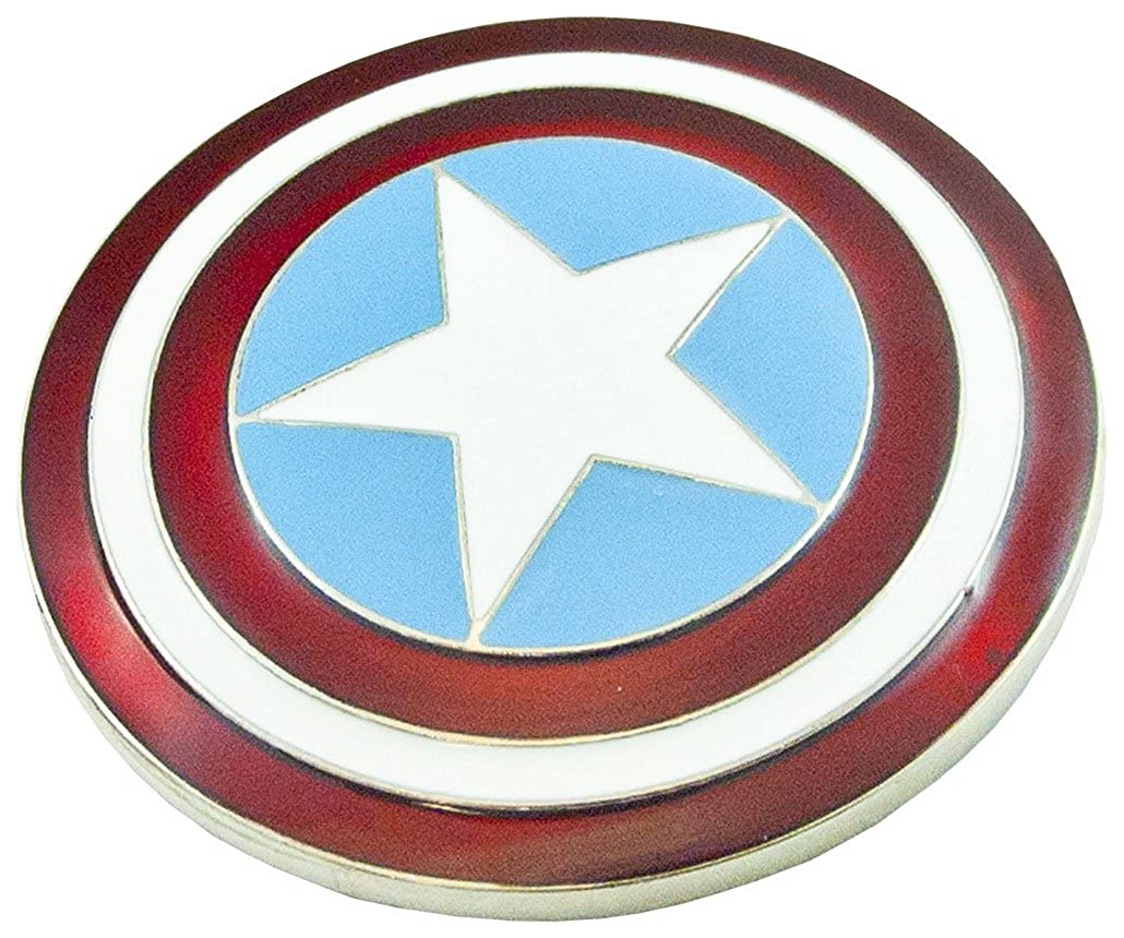 Captain america - Fibbia per Cinture - uomo Rot, weiße & blau emailliert