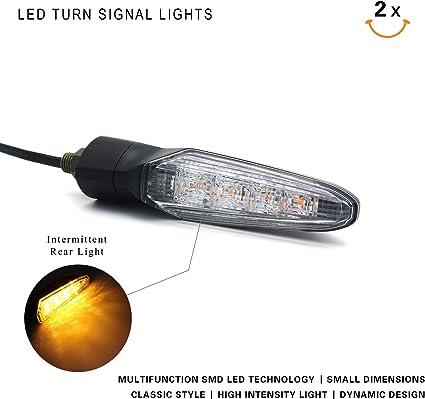2Pcs 10mm Bolt LED Turn Signal Indicators Amber Light For Honda CBR 600 RR 2005