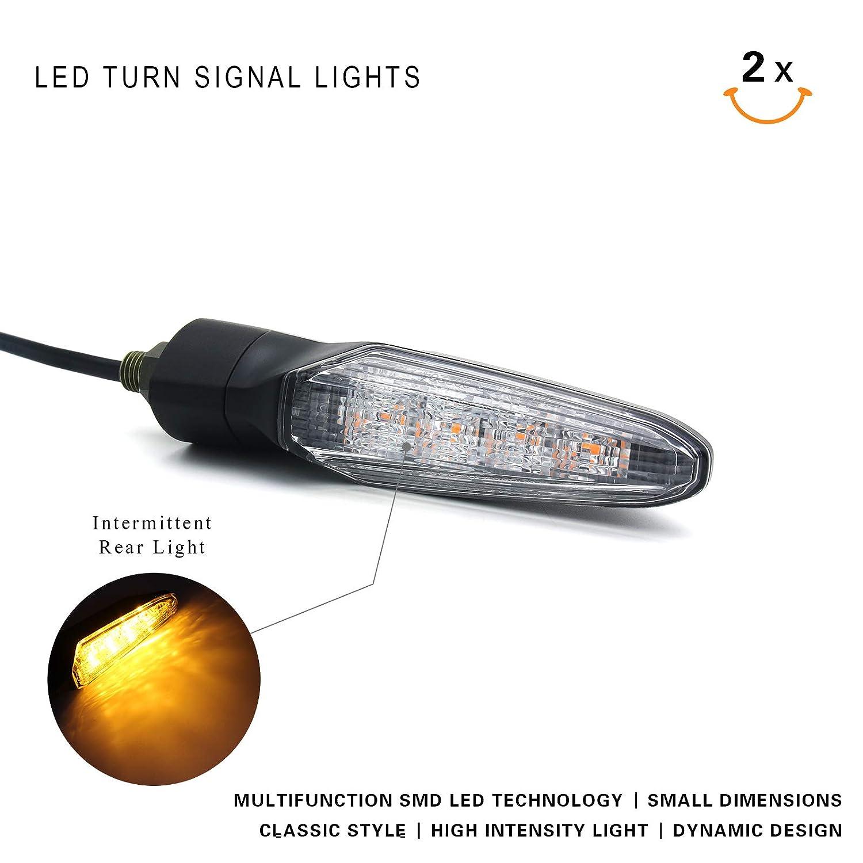 2019 New Front&Rear LED Turn Signal Indicator Lights For KAWASAKI NINJA  ZX-10R / ZX-10R SE / ZX-6R / NINJA 650 / NINJA 650 KRT Edition / VERSYS 650  /