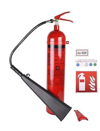 Feuerlöscher Co2kohlendioxid Gs 5x B 5kg Mit Instandhaltungsplakette