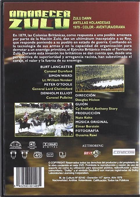 Amanecer Zulu [DVD]: Amazon.es: Peter O Toole, Burt Lancaster, Varios, Douglas Hickox: Cine y Series TV