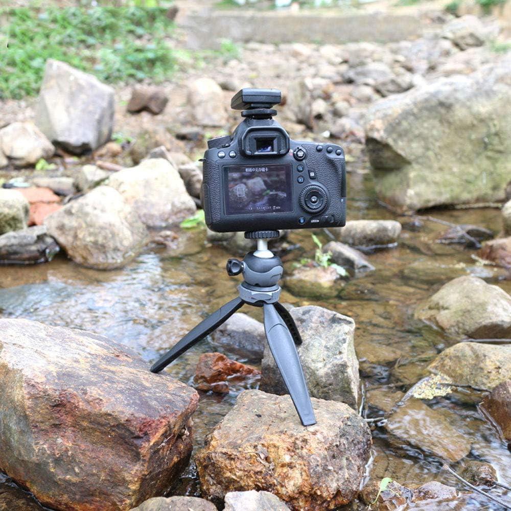 Projector /& Camera Mini Tripod Camera Holder Portable Aluminum Tabletop Tripod with Mobile Phone Holder 360/° Swivel Ball Head for Phone