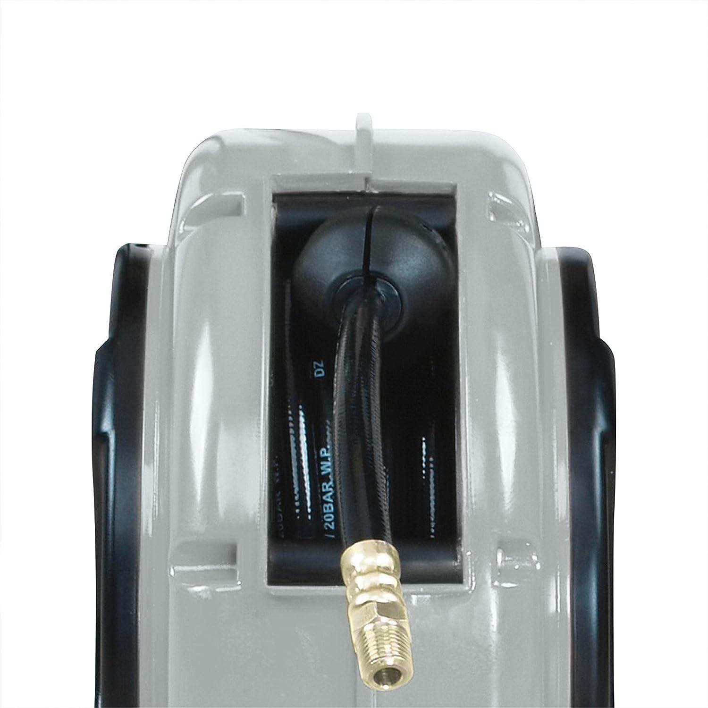 Interruptor T/érmico de Protecci/ón 8 m MAXTOOLS ER200 Enrollador El/éctrico Autom/ático Negro Minienrollador con Gu/ía Doble y Cable Resistente al Aceite