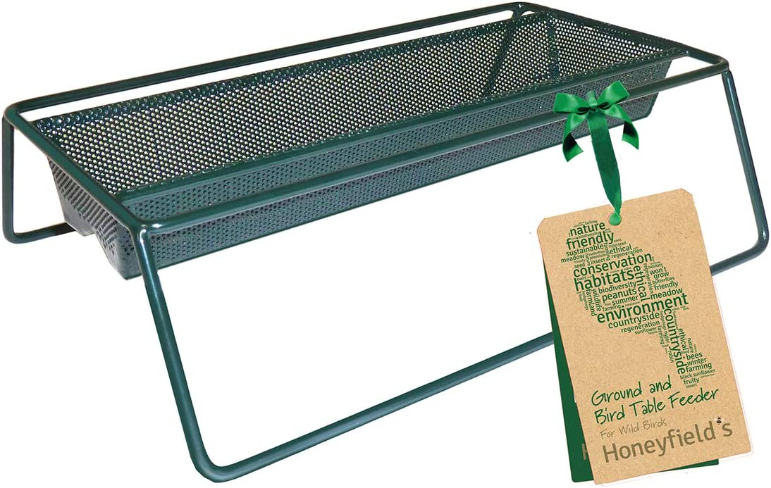 Honeyfield's Wild Bird Ground Feeder Comedero para pájaros Salvajes, Verde
