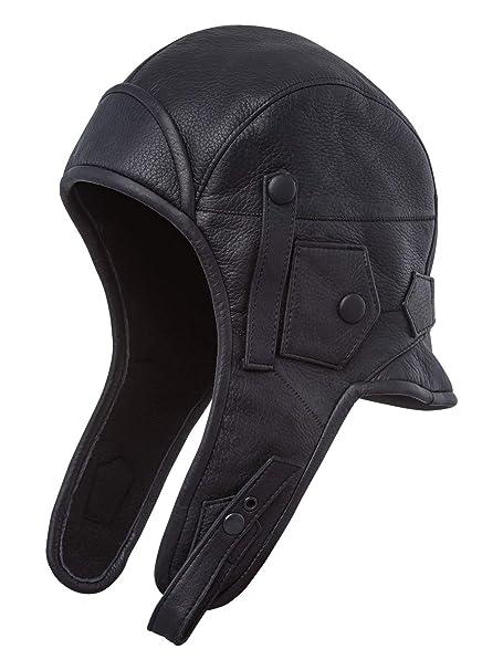 Amazon.com: Sterkowski Piel Auténtica Hombre Aviator casco ...