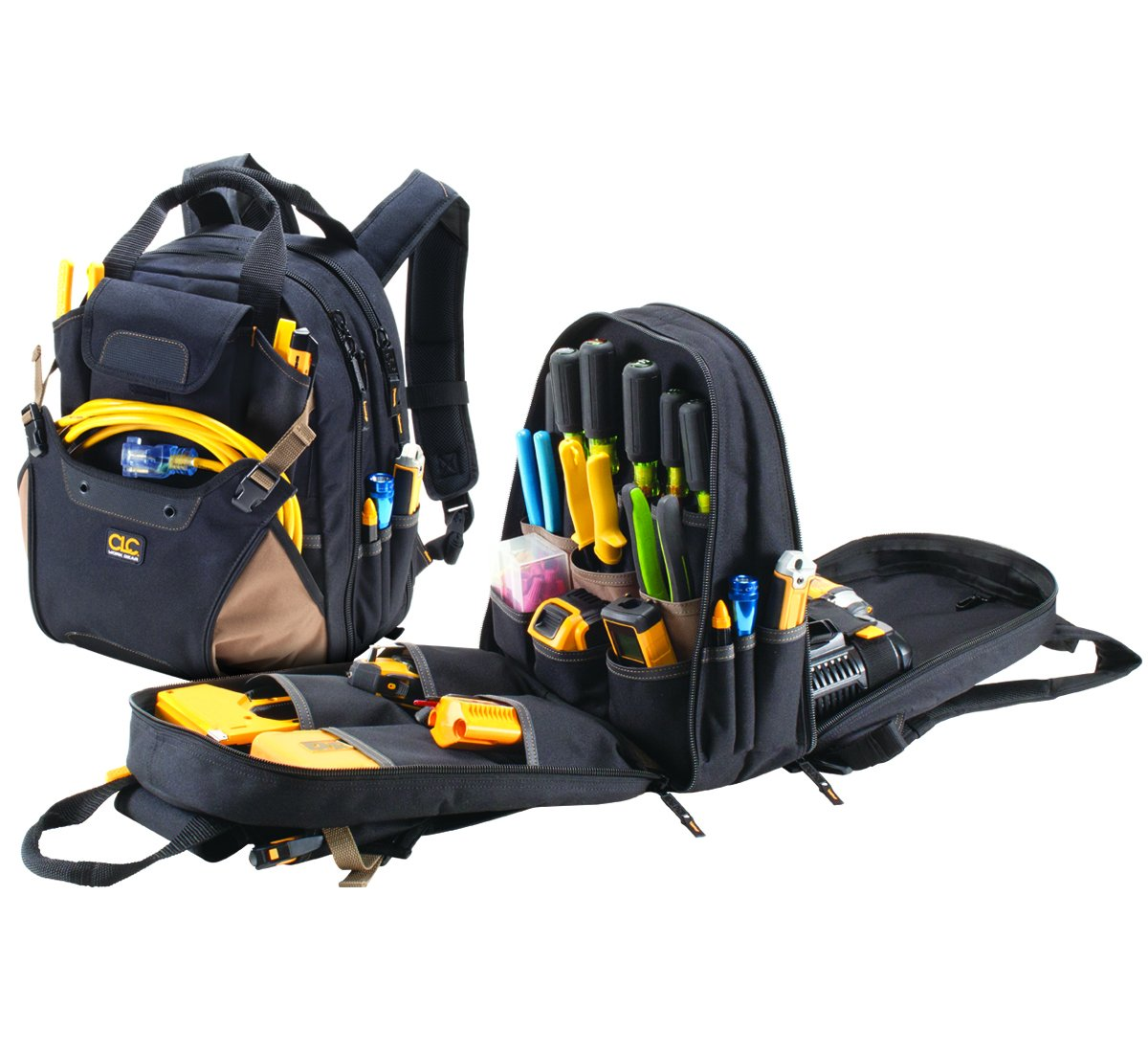 CLC 1134 Carpenter's Tool Backpack with 44 Pockets and Padded Back Support by Custom Leathercraft (Image #9)