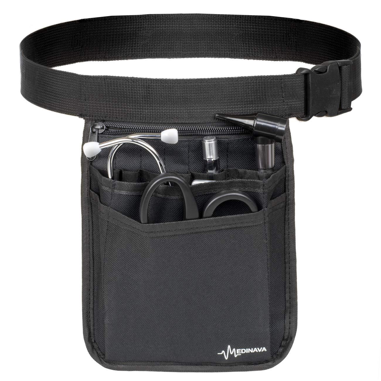 Medical Organizer Belt for Nurses - Multi-Compartment Bag Nurse Organizer Utility Medical Gear Hip Bag | Medical Care Kit Utility Waist Pack | Nurse Pocket Organizer Fanny Pack for Medical Basics by Medinava