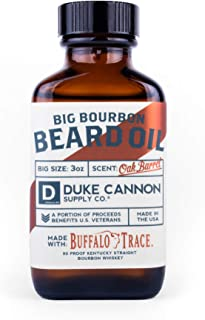 product image for Duke Cannon Supply Co. - Big Bourbon Beard Oil, Bourbon Oak Barrel (3 oz) Softening & Conditioning Beard Oil Made With Buffalo Trace Kentucky Straight Bourbon - Oak Barrel Fragrance