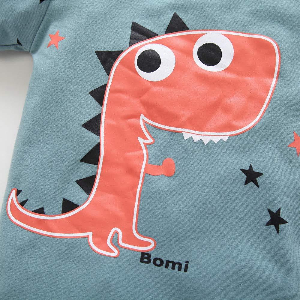 Memela Baby Clothes,2Pcs//Set Baby Girl Boy Long Sleeve Cartoon Dinosaur Tops Pants Outfits Clothes Set