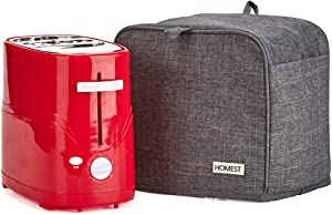 HOMEST Hot Dog Toaster Dust Cover with Accessory Pockets Compatible with Nostalgia Pop-up 2 Hot Dog and Bun Toaster