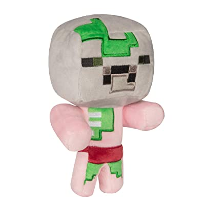 "JINX Minecraft Happy Explorer Baby Zombie Pigman Plush Stuffed Toy, Multi-Colored, 7"" Tall: Toys & Games"