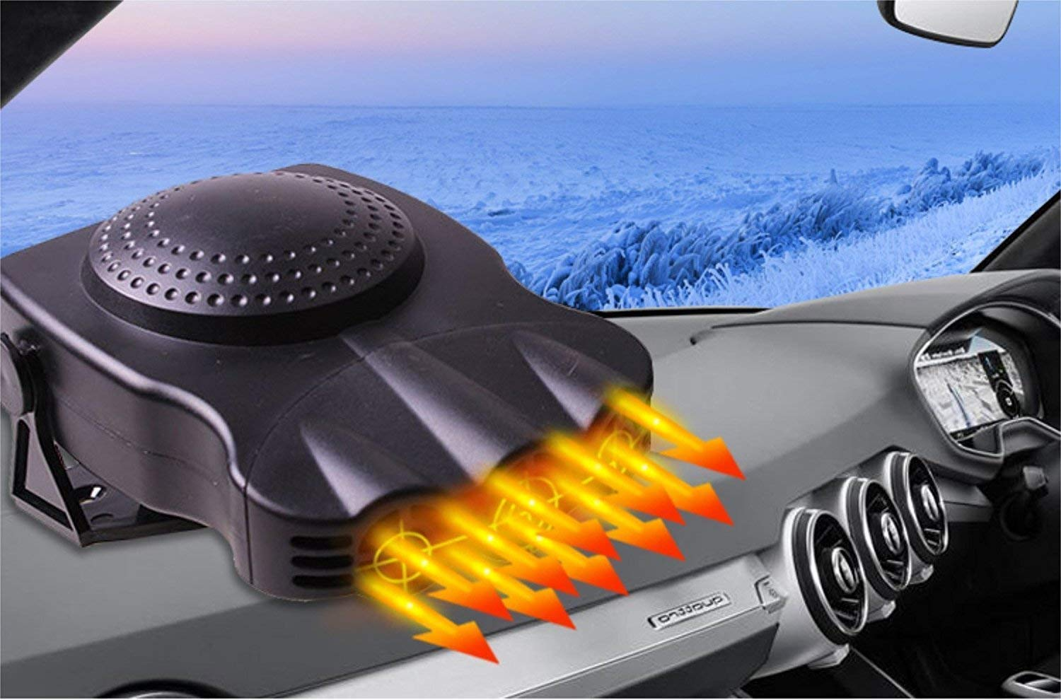 Portable Electronic Heater Fan Fast Heating Defrost 12V 150W 【2019 New】 Car Heater Cooling Car Space /& Fast Heating Space Automobile Windscreen Heater