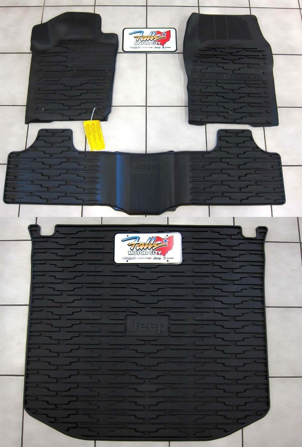 Rubber Floor Mats Jeep Cherokee - Amazon com jeep grand cherokee rubber slush floor mats cargo tray liner set automotive