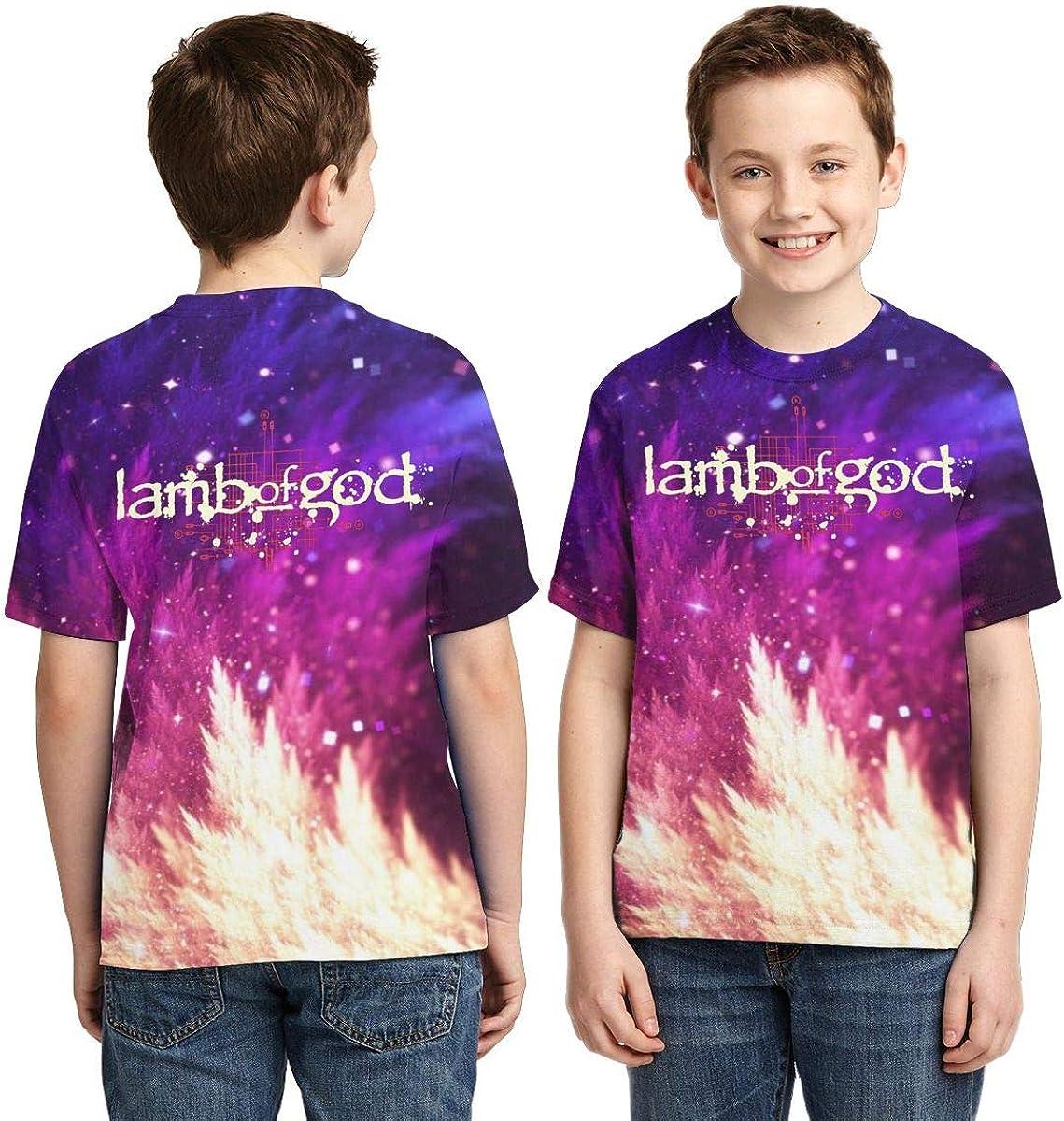 Caiyuzhuanmai Boys,Girls,Youth Lamb of God T Shirts