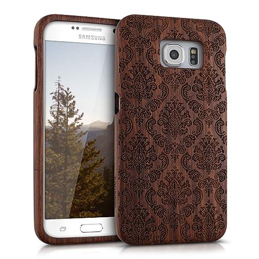 4 opinioni per kwmobile Custodia in legno per Samsung Galaxy S6 / S6 Duos Cover legno naturale
