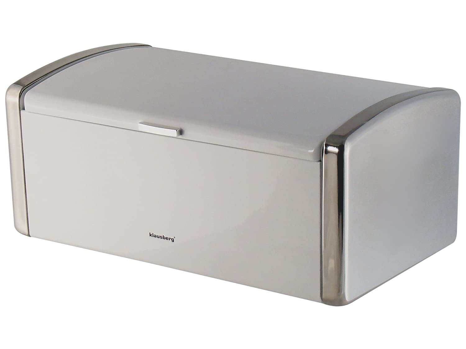 Top Quality Bread Bin Made of High Quality Steel Very Practical Ecological and Hygienic Materials (Black) KLAUSBERG iweks
