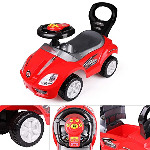 Amazon.com: freddotoys Deluxe Mega Ride on Push Car Foot to ...