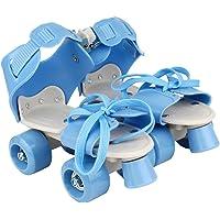 Plutofit® Adjustable Roller Skating Shoes with Front Brakes for Kids, Foot Size 5-9 UK