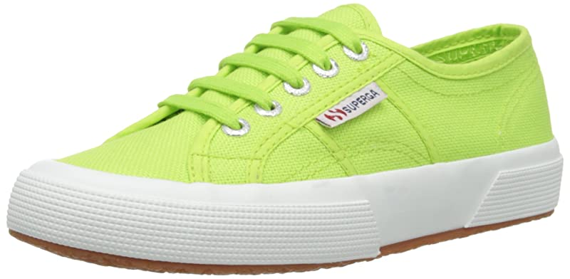 Superga 2750 Cotu Classic Sneakers Low-Top Unisex Damen Herren Grün (Acid Green)