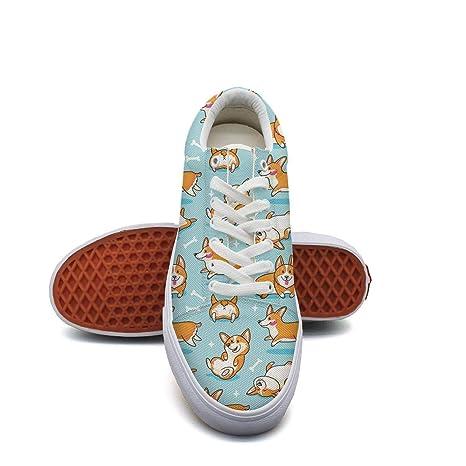 db161d301c6c0 Amazon.com: Ouxioaz Womens Skate Shoes Happy Pug Dog Round Shoe ...