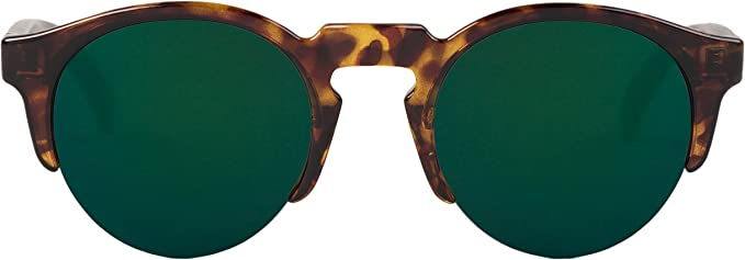 MR, Cheetah tortoise born with dark green lenses - Gafas De Sol unisex multicolor (carey), talla única